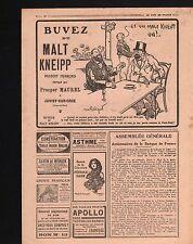 WWI Pub Réclame Malt Kneipp Pétrole Hahn Pilules Foster Chenil 1918 ILLUSTRATION