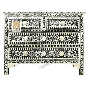Bone inlay chest of drawers four drawer inlay dresser with insurance home decor4