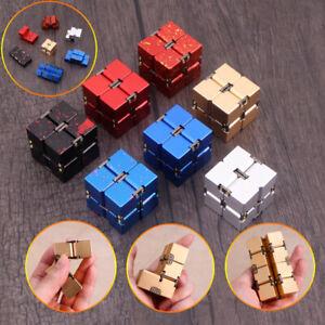 Metal Infinity Magic Cube Blocks For Stress Relief Fidget Anti Anxiety Aluminum
