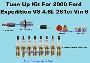 2000 Ford Expedition Spark Plug Wire Set, Oil Air Fuel Filter,PCV Valve Tune Up
