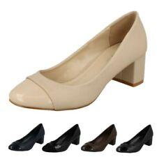 Spot On Women's Court Block Heel Synthetic Heels for Women