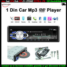 Single 1 Din Car Radio DVD CD MP3 Player FM USB/AUX/SD BT In-dash Audio Stereo