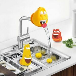 Novelty Cartoon Larva Silicone Faucet Extenders Insect shape Home Decoration Acc