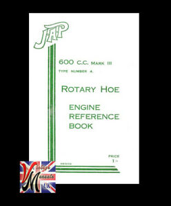 JAP 600cc MK3 Type 4 Engine Reference Manual - As fitted to GEM Rotavator