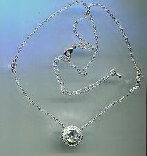 3.25 CARAT TW CZ BY THE YARD ROUND CUT CZ HALO SOLITAIRE NECKLACE