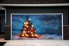 Christmas Garage Door Covers Door Banners Outside House Decor Billboard GD21