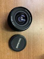 TAKUMAR-A 28mm f/2.8 Pentax K Mount Camera Lens With Lens Caps - H67