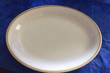 """Shenango China Platter 10 1/2"""" White Gold Rim U.S.A Restaurant China"""