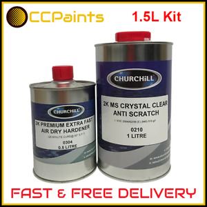 2K Crystal Clear Anti Scratch Clearcoat 1.5L Lacquer Kit (FAST DISPATCH)