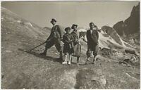 1920s Adolphe Couttet Hikers on Mont Blanc Photo Postcard