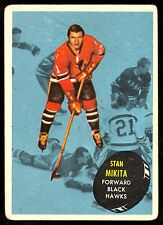 1961-62 TOPPS HOCKEY 36 STAN MIKITA VG-EX CHICAGO BLACK HAWKS CARD