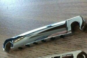 Chrome Genuine Original Gibson USA Tune-O-Matic Tailpiece ~ API ~ OEM