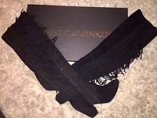 rebecca minkoff boots size 8 1/2 suede fringe boots!