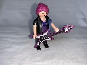 Playmobil Joueuse De Guitare Eletrique Rockstar Rockeuse Musique