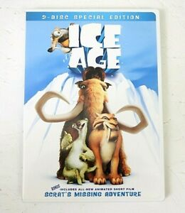 Ice Age DVD 2002 Movie Children's Family Adventure Fox Cartoon Kids