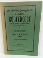 LDS Mormon Church CONFERENCE REPORT of Discourses April 3,4,5, 6, 1954
