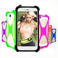 "Stretchy Silicone Soft Phone Bumper Case Cover For Sharp Aquos B10 (5.7"")"