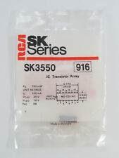 RCA SK3550 - High Current NPN Transistor Array IC - Common Emitter, NOS