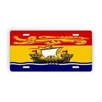 "New Brunswick Provinical Flag Licence Plate 6"" x 12"" Aluminum Plate"