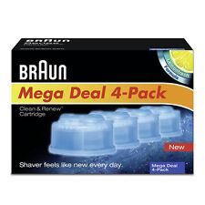 4x Braun Shaver Clean and Renew Refill Cartridges CCR4 790cc 760cc 590cc 570cc