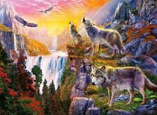 CEACO WOLVES JIGSAW PUZZLE WOLVES IN THE SUN JAN PATRIK KRASNY 1000 PCS #3373-2