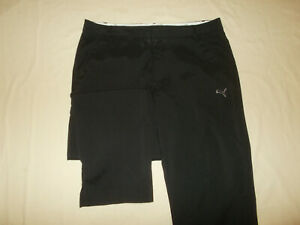 PUMA DRY CELL BLACK FLAT FRONT GOLF PANTS MENS 36X32 EXCELLENT CONDITION