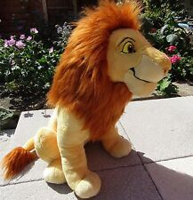 "Large Lion King Adult Simba Mufasa Disney Store Genuine Authentic Plush 18"""
