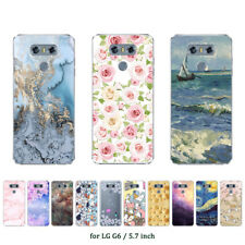 "5.7"" Soft TPU Silicone Case For LG G6 Protective Phone Back Cover Skins Marble"