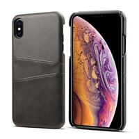iPhone XR Schutzhülle  Pu Leder Farbe Schwarz Case Tasche Luxus Cover
