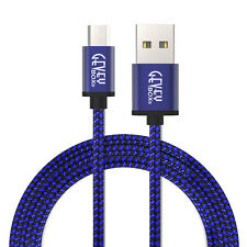 10FT Braided Data Sync Charge fast speeds MICRO GALAXY S7 S6 NOTE 5 cable Blue