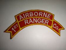 Korea War (1950-53) Scroll Patch Us Army 1st Ranger Infantry Company (Airborne)