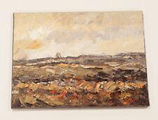 RAF Fylingdales ORIGINAL LANDSCAPE PAINTING Signed Steve Greaves Art Yorkshire