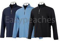Callaway Golf - Mens S-2XL 3XL 4XL, Mid Layer Mock Zip, Fleece Pullover, Jacket