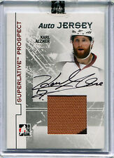 2009-10 ITG Superlative Prospect KARL ALZNER Auto Jersey Patch RC Rare SP #/40
