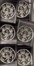 """6x OLD AIR FORCE ENLISTED CAP BADGES '""""OXIDIZED SILVER""""  FINISH"""