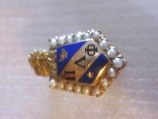 Vintage 10K Solid Gold Pi Lambda Phi Fraternity Pin w/Gems