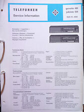 Service Manual Telefunken Gavotte 401,Jubilate 501,ORIGINAL