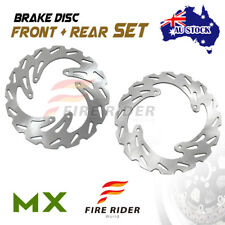 AU MX Brake Disc Rotor Front Rear For HONDA CRF 450 X 04-12 05 06 07 08 09 10 11