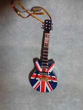 "ELECTRIC GUITAR BRITISH FLAG UK NSTRUMENT ORNAMENT 4"" G48S"