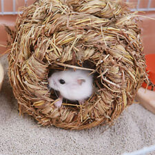 New listing Fa- Pet Woven Grass Straw Small Rabbit Hamster Cage Nest Chew Toy Hedgehog Bed T