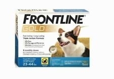 FRONTLINE GOLD FOR DOGS ( ONLY ON DOGS 23 TO 44 LBS) 3 MONTHS SUPPLY