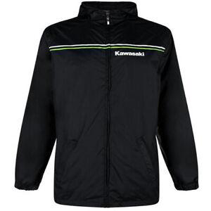 Kawasaki Motorcycle Bike Sports Rain Jacket Waterproof Dry Casual Black
