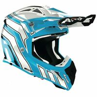 AIROH AVIATOR ACE ART AZURE GLOSS MOTOCROSS MX ENDURO MOTORCYCLE DIRT ATV HELMET