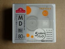 5pack Brand New TOPVALU MD80 5Colors Minidisc - Factory sealed