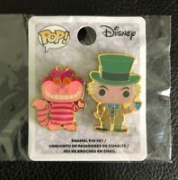 💎 Mad Hatter & Cheshire Cat Trading Pins 131806 Disney Loungefly Funko Pop! Set