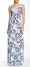 Tart Collections Women's Sleeveless Ikat Chevron Delaney Maxi Dress Size X-Small