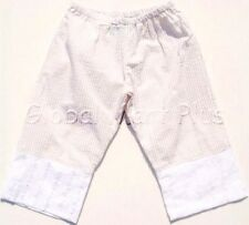Pants Capri Cropped Striped Flower Eyelet Elastic Waistband Youth Girls Cleo Dot