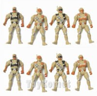 8 pcs Military Tan Action Figures Plastic Toy Soldiers Army Men