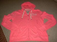 ABERCROMBIE & FITCH Coral Pink Front Zip Front Hoodie Jacket L NWT FREE SHIP
