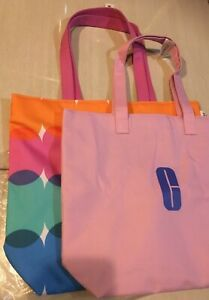 Lot Of 2 Clinique Large Shopping Shoulder Travel Tote Bag As Picture, New
